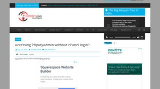 Accessing PhpMyAdmin without cPanel login? - Crybit.com