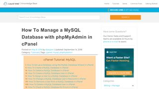 How To Manage a MySQL Database with phpMyAdmin in cPanel ...