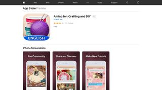 Amino for: Crafting and DIY on the App Store - iTunes - Apple