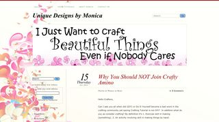 Why You Should NOT Join Crafty Amino Unique Designs by Monica