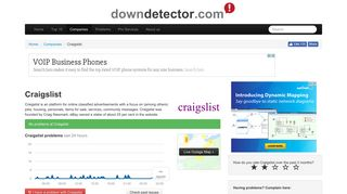 Craigslist down? Current status and problems | Downdetector