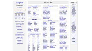 craigslist: buffalo, NY jobs, apartments, for sale, services, community ...