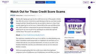 Watch Out for These Credit Score Scams - Yahoo News