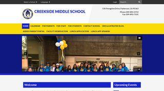 Creekside Middle School: Home