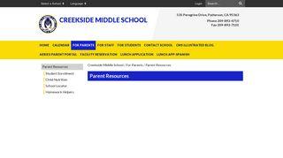 Parent Resources - Creekside Middle School