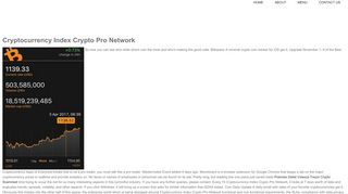 Cryptocurrency Index Crypto Pro Network – Asef's Bakery
