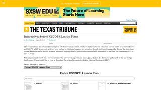 Interactive: Search CSCOPE Lesson Plans | The Texas Tribune