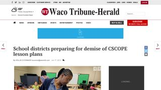 School districts preparing for demise of CSCOPE lesson plans ...