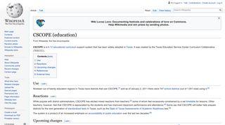 CSCOPE (education) - Wikipedia