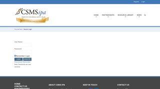Secure Login - CSMS-IPA