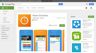 Radar Schedules - Apps on Google Play