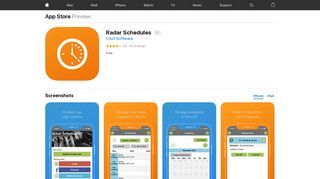 Radar Schedules on the App Store - iTunes - Apple