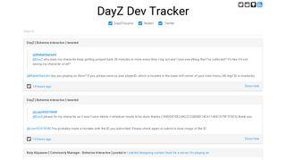 DayZ Dev Tracker