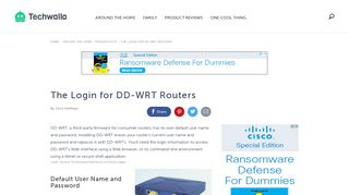 The Login for DD-WRT Routers | Techwalla.com