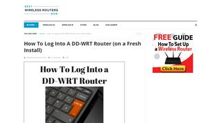 How To Log Into A DD-WRT Router | DD-WRT Default Login ...