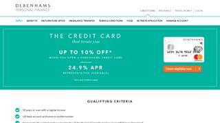 Debenhams Credit Card   Debenhams Personal Finance