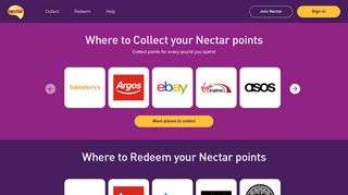 Nectar: Collect and spend points that reward you for being you