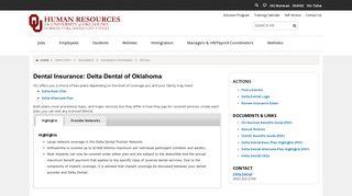 Dental - OU Human Resources - University of Oklahoma