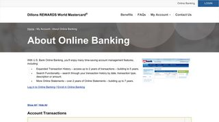 Dillons REWARDS World Mastercard® | About Online Banking