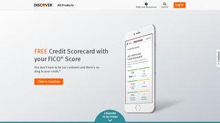 Free Credit Score – FICO® Credit Score Card | Discover