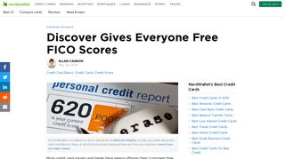 Discover Gives Everyone Free FICO Scores - NerdWallet