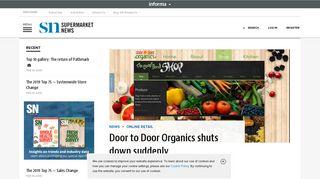 Door to Door Organics shuts down suddenly | Supermarket News