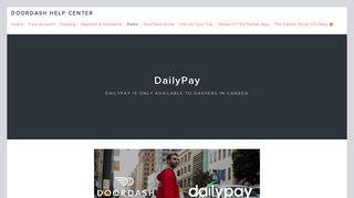 DailyPay — DoorDash Help Center