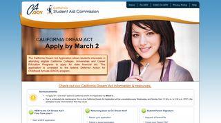 CA Dream Act Application: Home