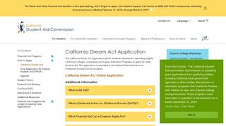 California Dream Act - California Student Aid Commission