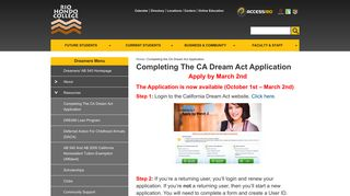 Completing the CA Dream Act Application | Dreamers