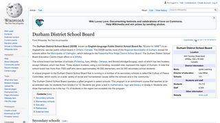 Durham District School Board - Wikipedia