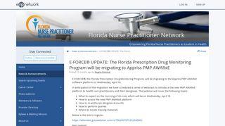 E-FORCE® UPDATE: The Florida Prescription Drug Monitoring ...