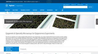 Epigenetic & Location Analysis Microarrays | Agilent