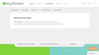 Where's my order? - EASYFLOWERS