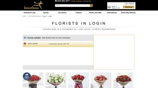 Flower Delivery Login - Interflora - Trusted since 1923