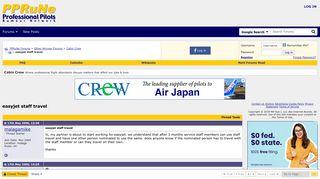 easyjet staff travel - PPRuNe Forums
