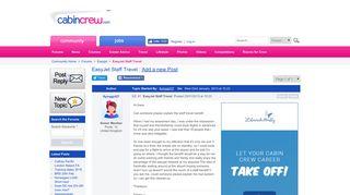 EasyJet Staff Travel — CabinCrew.com