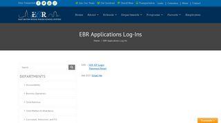 East Baton Rouge Parish Schools | EBR Applications Log-Ins