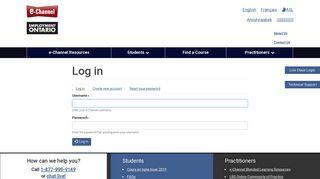 Log in   e-Channel