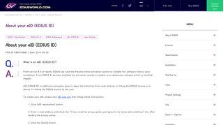 About your eID (EDIUS ID) | Video editing software EDIUS special site