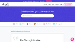 The Divi Login Module | Elegant Themes Documentation