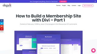 How to Build a Membership Site with Divi – Part 1 | Elegant Themes ...