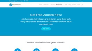 Become a Free Member - Divi Framework Plugins and Themes