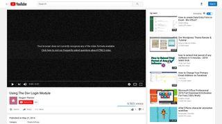 Using The Divi Login Module - YouTube