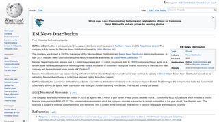EM News Distribution - Wikipedia