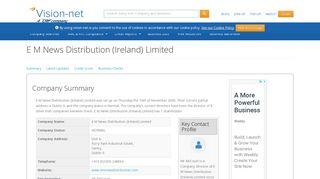 E M News Distribution (Ireland) Limited - Irish Company Info - Vision-Net