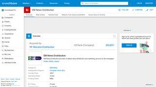 EM News Distribution | Crunchbase