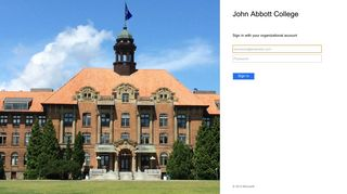 Sign In - John Abbott College