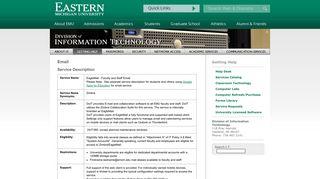 Email - Eastern Michigan University