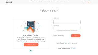 Login | Emma Email Marketing
